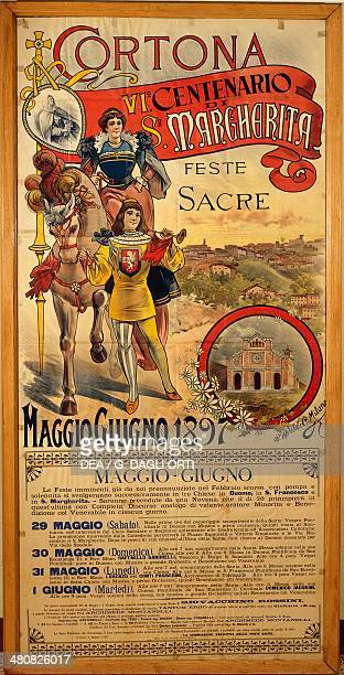 Posters Italy 19th century Commemoration of the 600th anniversary of the death of Saint Margaret 1897