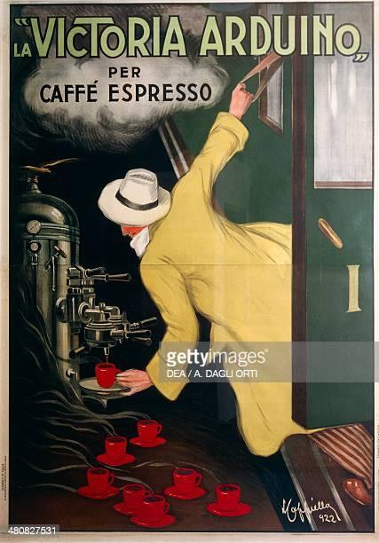 Posters Italy 20th century The Victoria Arduino espresso coffee machine Illustration by Leonetto Cappiello 1922 Treviso Museo Civico Raccolta Di...