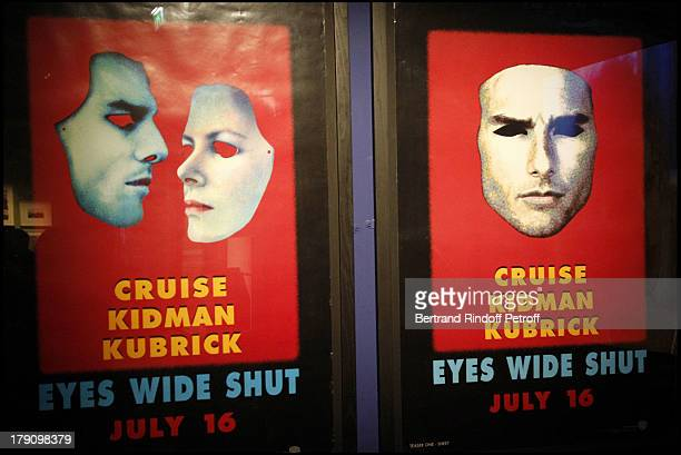 Posters Of Eyes Wide Shut at The Private View Of The Stanley Kubrick Exhibition At The Cinematheque Francaise In Paris