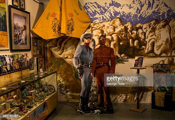 Posters of the Lone Ranger and Tonto are displayed at the Lone Pine Film History Museum on July 21 in Lone Pine California The arid Owens Valley...