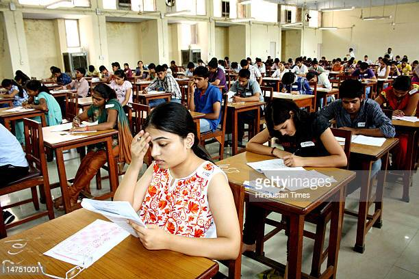 Postgraduation institute of medical science conducted the entrance exams for MBBS courses in PGI campus on July 1 2012 in Rohtak India Students while...