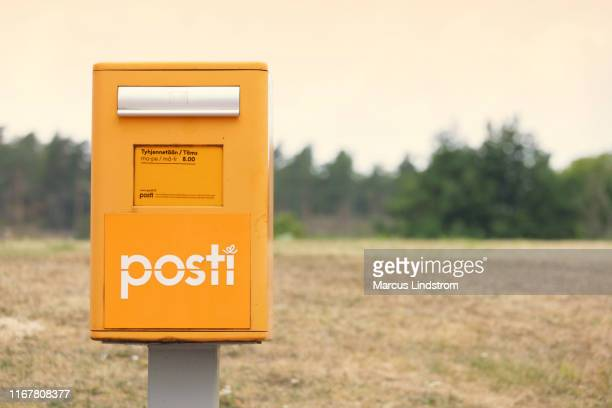 posti, postal service of finland - finland stock pictures, royalty-free photos & images