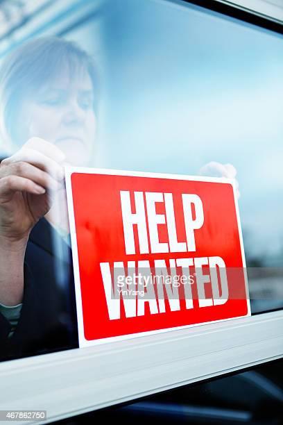 Envío de ayuda querido señal para el empleo de nueva contratación de reclutamiento
