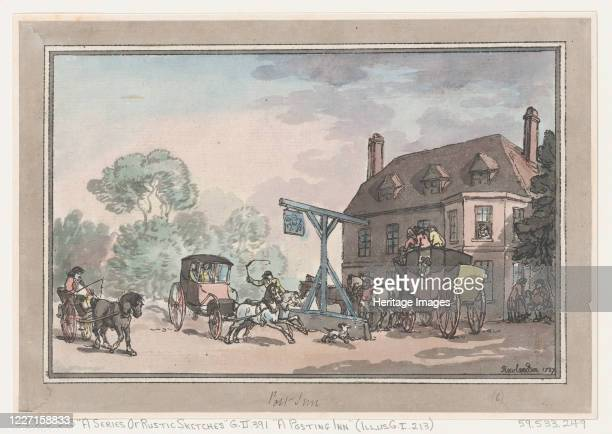 A Posting Inn 1787 Artist Thomas Rowlandson