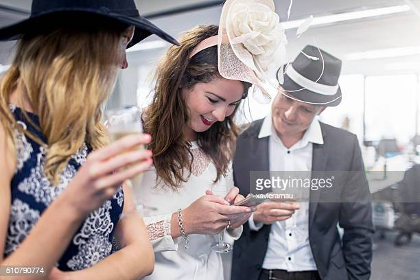 Posting the Melbourne Cup party in the social network