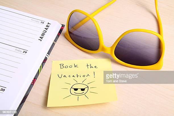 Post-it note - Book the Vacation