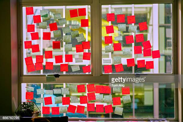 Post-it notes used in brain-storming session