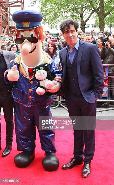 Postman Pat and Stephen Mangan attend the World Premiere of 'Postman Pat' at Odeon West End on May 11 2014 in London England