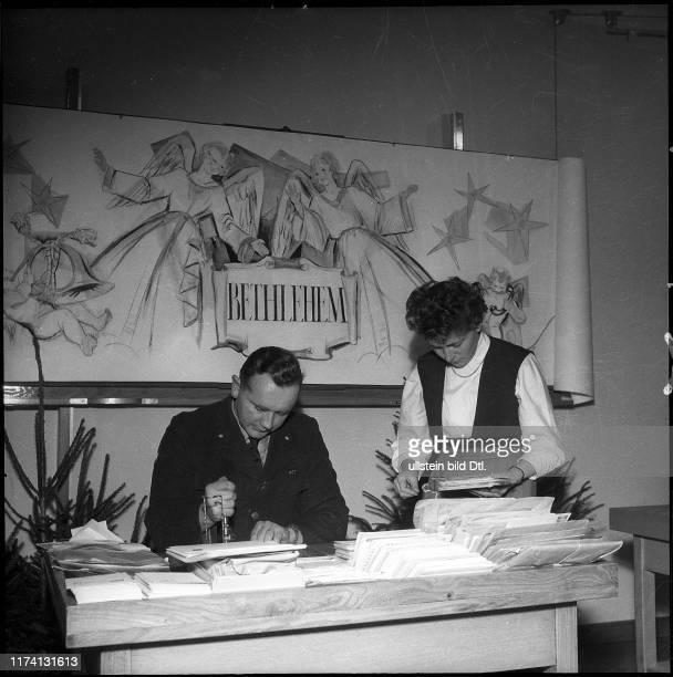 Postmark at the temporary post office Berne Bethlehem 1956