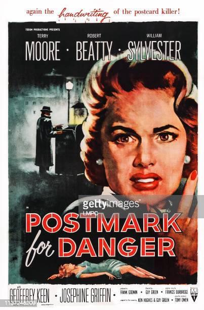 Postmark For Danger poster US poster art Terry Moore 1955