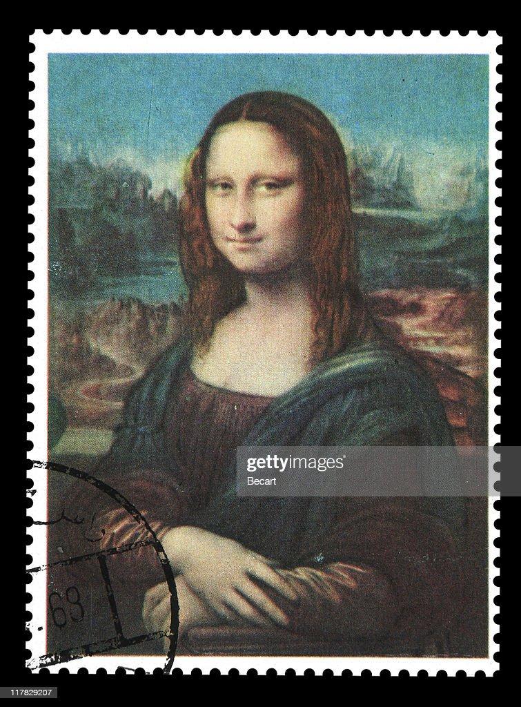 Postmark - Mona Lisa : Stock Photo