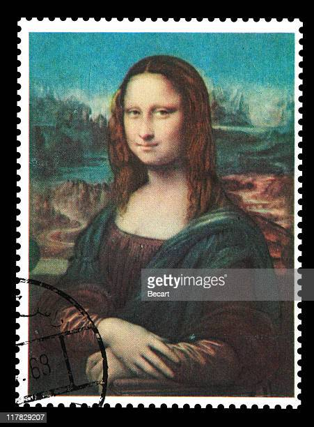 postmark - mona lisa - renaissance stock pictures, royalty-free photos & images