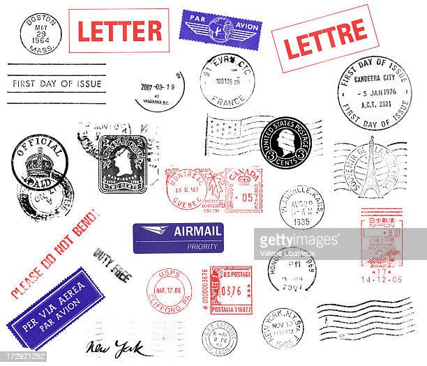 postmarks - mail stock pictures, royalty-free photos & images
