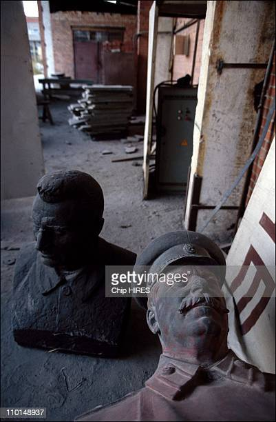PostMarxism in Vilnius Lithuania on August 31 1991 Stalin statue