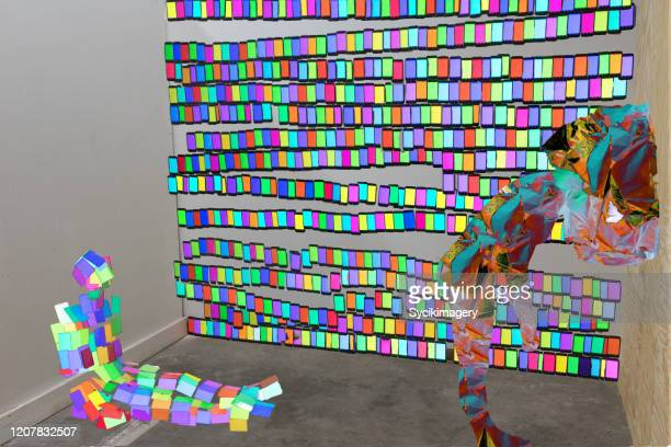 postmodern art - installation art stock pictures, royalty-free photos & images