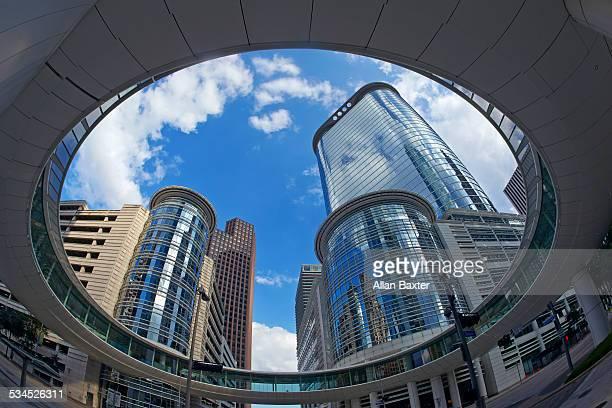 Postmodern skyscrapers in Downtown Houston