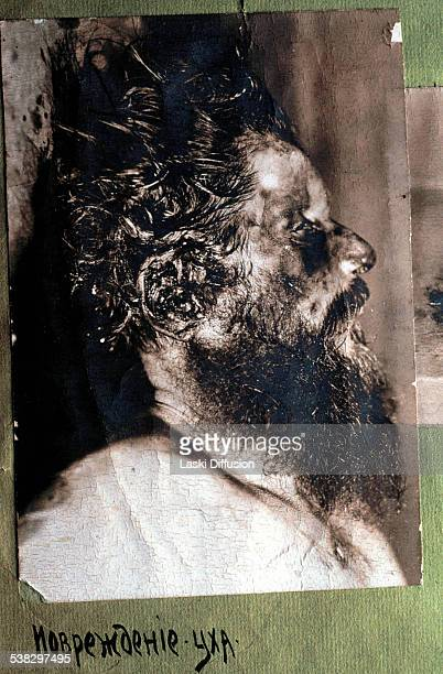 A postmortem photograph of Grigori Rasputin taken before his autopsy on December 20 1916 in Saint Petersburg in Russia A photograph is a part of a...