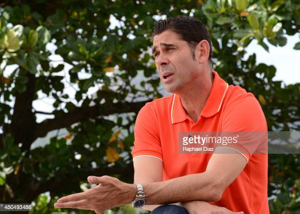 Posto adidas Fernando Hierro attends to the The Dugout YouTube Live TV Show and Press Conference on June 2014 in Rio de Janeiro Brazil