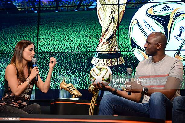 Posto adidas Patrick Vieira attends to the The Dugout YouTube Live TV Show and Press Conference on June 2014 in Rio de Janeiro Brazil