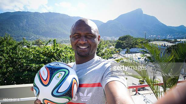Posto adidas 'The Dugout' YouTube Live TV Show and Press Conference with Guests Patrick Vieira and Fernando Hierro on June 2014 in Rio de Janeiro...