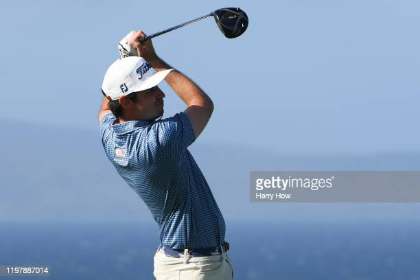 T Poston of the United States plays his shot from the 13th tee during the final round of the Sentry Tournament Of Champions at the Kapalua Plantation...