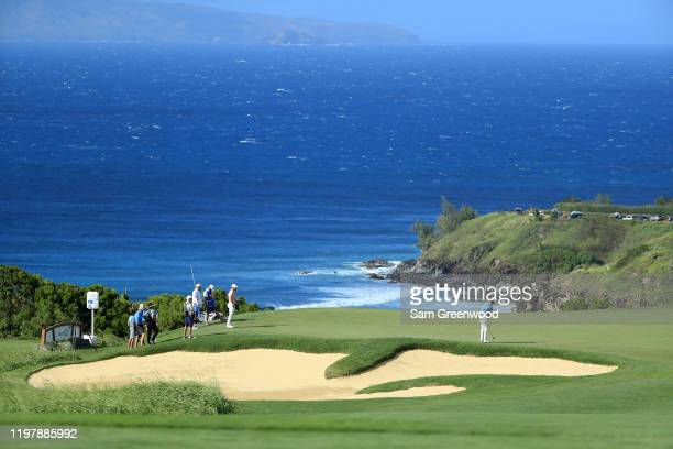 Poston of the United States putts on the 11th green during the final round of the Sentry Tournament Of Champions at the Kapalua Plantation Course on...