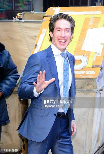 Postor Joel Osteen is seen outside Good Morning on March 18 2019 in New York City