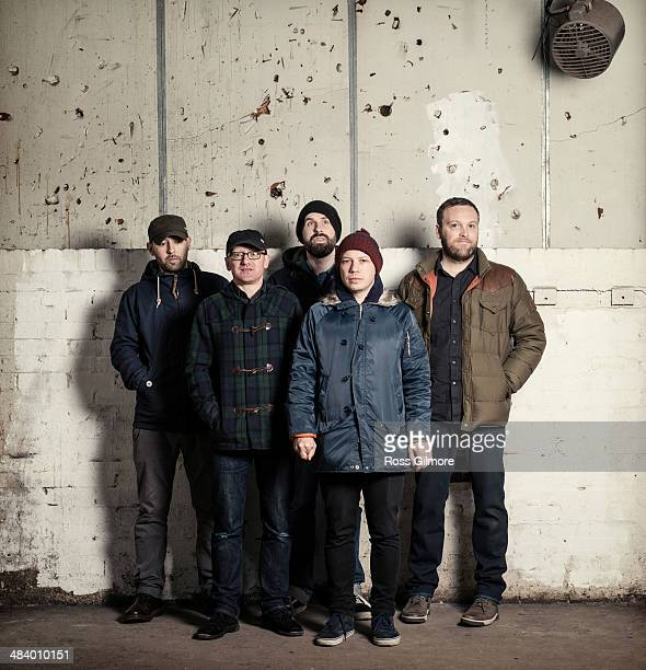 Postrock band Mogwai are photographed for Skinny magazine on November 16 2013 in Glasgow Scotland