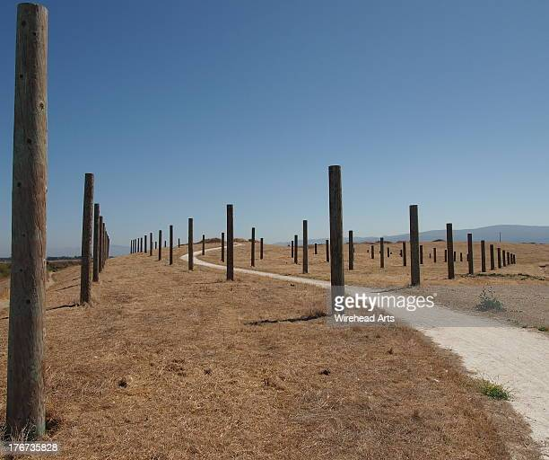 posts and a trail - palo alto stock pictures, royalty-free photos & images