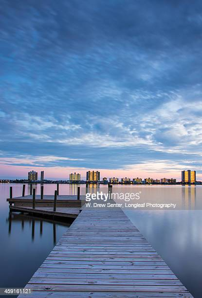 post-sunset at little lagoon - gulf shores alabama stock pictures, royalty-free photos & images