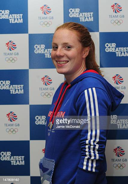 Posy Musgrave of Team GB poses for a portrait during the Team GB kitting out event ahead of the London 2012 Olympic Games at Loughborough University...