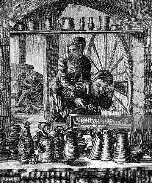 Pot casters 16th century historical illustration