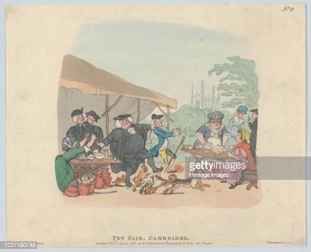 Pot Fair Cambridge, May 1, 1803. Artist Thomas Rowlandson.