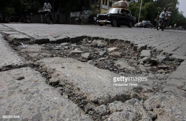 Pot hole at Tulsi Pipe Road Near Ruparal College Matunga
