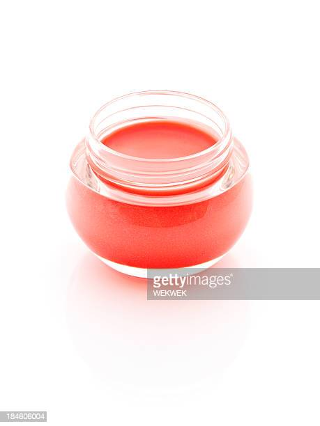 pot of lip balm, close up - lip balm stock pictures, royalty-free photos & images