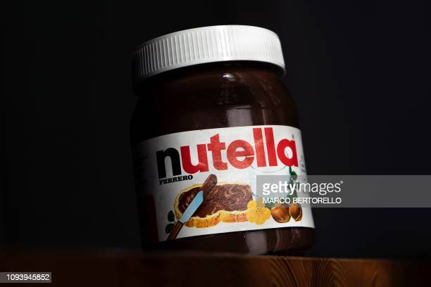 A pot of the chocolate spread Nutella is pictured in Manta near Cuneo Northwestern Italy on Febraury 5 2019