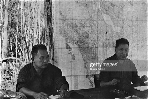 Pot Pot And Cambodian Army In Cambodia In May 1979 Prime Minister Pol Pot his ministers and Cambodia army B/W 135660