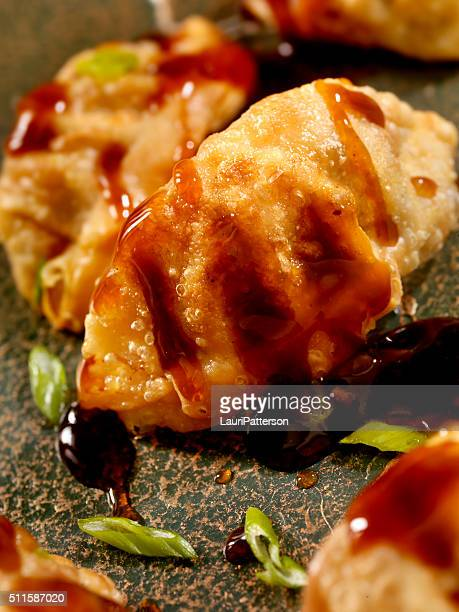 pot stickers or dumplings - course meal stock pictures, royalty-free photos & images