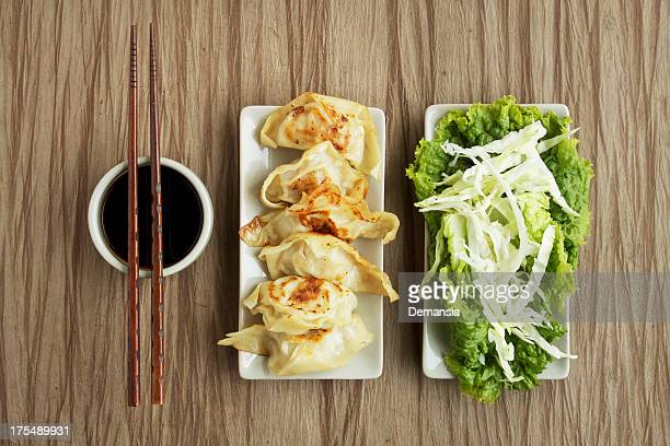 Pot Stickers with Salad