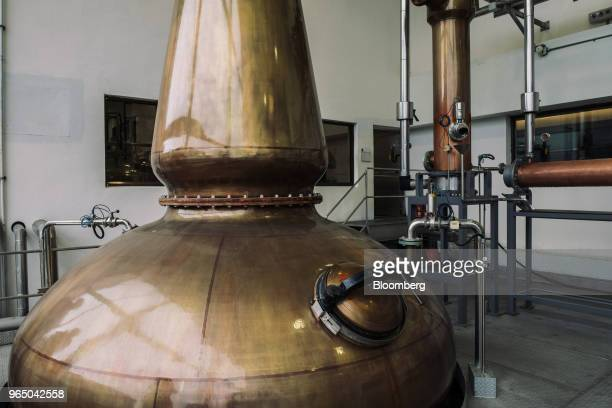 A pot still stands inside the Kavalan Single Malt Whisky distillery in Yilan County Taiwan on Thursday Jan 25 2018 Kavalan is the first whisky...