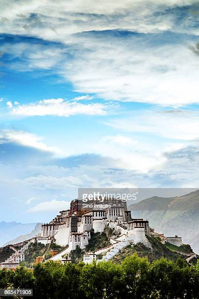 potala palace - lhasa stockfoto's en -beelden