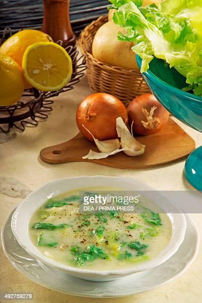Potato and escarole minestra