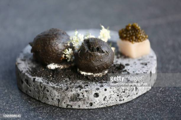 Potato charcoal lime and caviar from TwentySix by Liberty at 11 Stanley Street in Central 17NOV15 [RESTAURANT REVIEW LIFE]