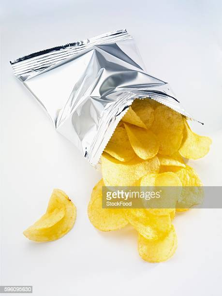 Potato crisps in the packet