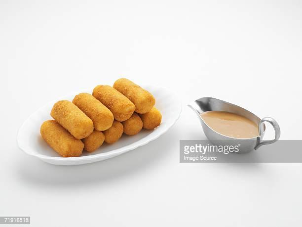 potato croquettes - croquette stock photos and pictures