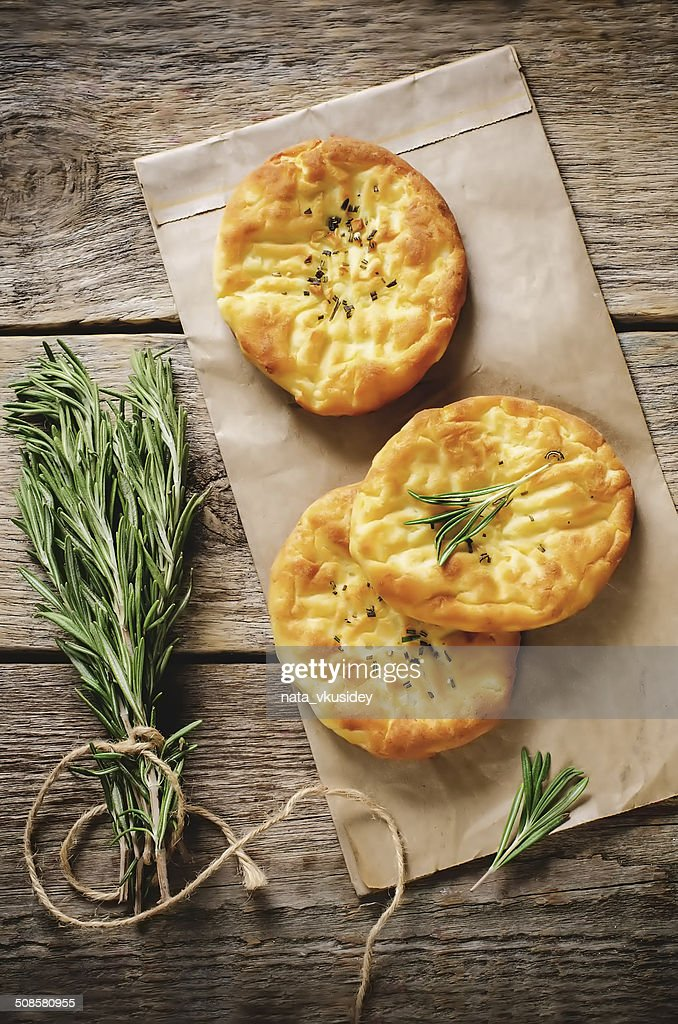 potato flatbread with rosemary : Bildbanksbilder