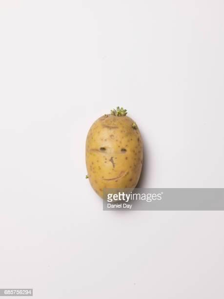 Potato head, smiling