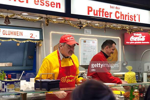 Potato pancake booth at Sternschnuppenmarkt Wiesbaden