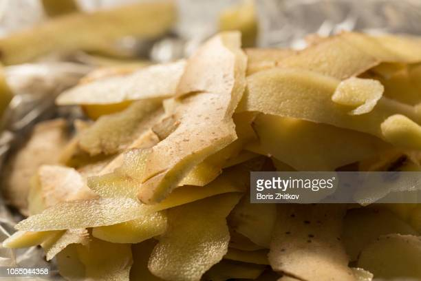 Potato peels.