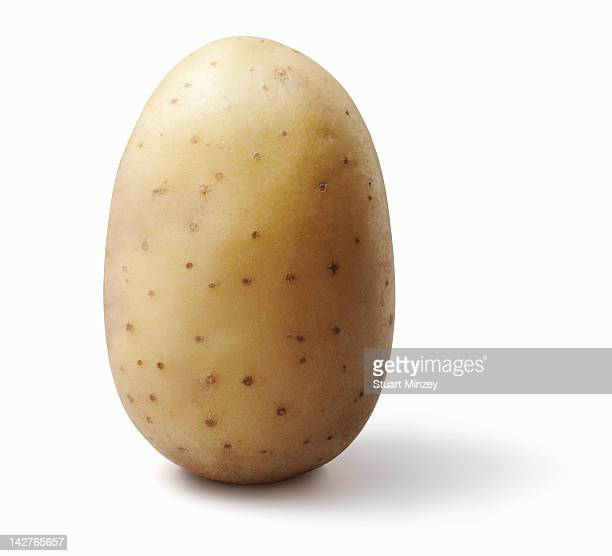 Potatoe on white background